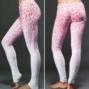 alo Yoga Ombré Leopard-Print Leggings